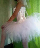 Короткое свадебное платье-пачка.  Москва.